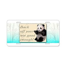 Back off Panda Aluminum License Plate