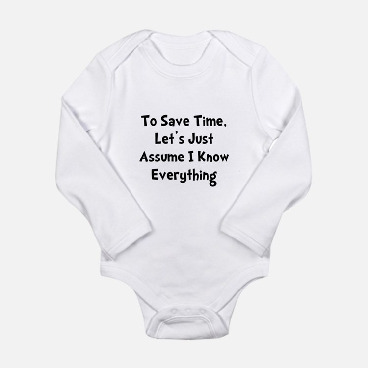 Know Everything Long Sleeve Infant Bodysuit