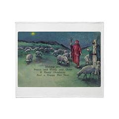 1910 Shepherds and Star Throw Blanket