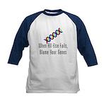 Blame Your Genes Kids Baseball Jersey