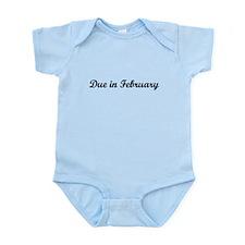 Due In February Infant Bodysuit