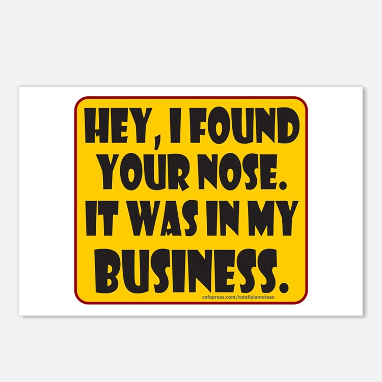 HEY, I FOUND YOUR NOSE Postcards (Package of 8)