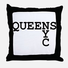 QUEENS NYC Throw Pillow
