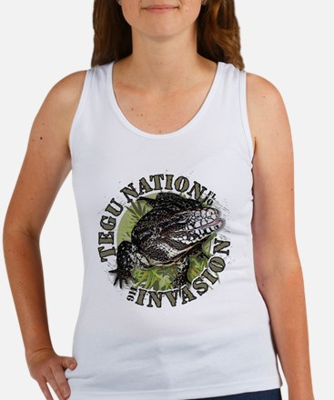 Tegu Lizard Nation Tank Top
