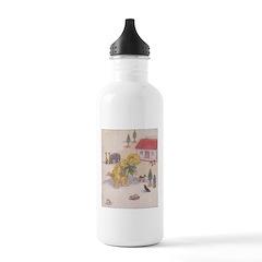 1927 Christmas Kitten 1 Water Bottle