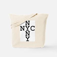 NYC, NYNY CROSS Tote Bag
