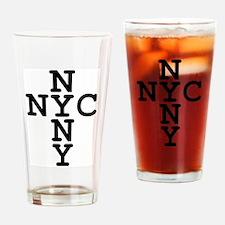 NYC, NYNY CROSS Drinking Glass