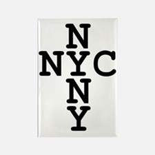 NYC, NYNY CROSS Rectangle Magnet