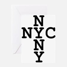 NYC, NYNY CROSS Greeting Card