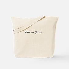 Due In June Tote Bag