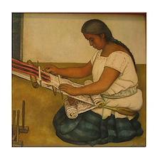 Diego Rivera Weaving Art Tile Coaster