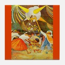 Diego Rivera Pinata Mexico Art Tile Coaster