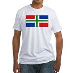 Groningen Gronings Blank Flag Fitted T-Shirt