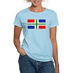 Groningen Gronings Blank Flag Women's Pink T-Shirt