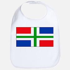 Groningen Gronings Blank Flag Bib