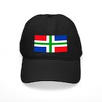 Groningen Gronings Blank Flag Black Cap