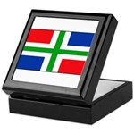 Groningen Gronings Blank Flag Keepsake Box