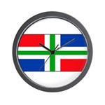 Groningen Gronings Blank Flag Wall Clock