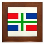 Groningen Gronings Blank Flag Framed Tile