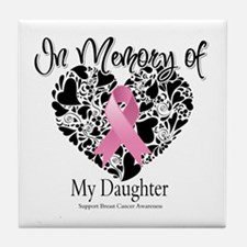In Memory of My Daughter Tile Coaster