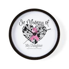 In Memory of My Daughter Wall Clock
