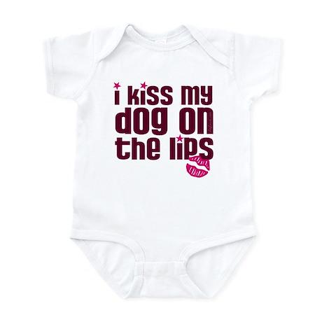 Kiss Dog Lips Infant Bodysuit