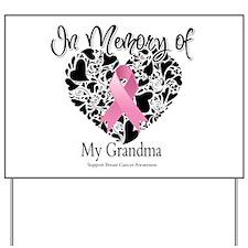 In Memory of My Grandma Yard Sign