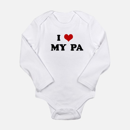 Unique I love my army dad Long Sleeve Infant Bodysuit