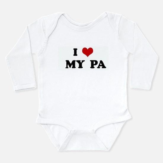 Cute I love my dorgi Long Sleeve Infant Bodysuit