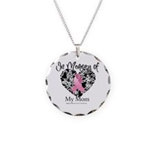 In Memory of My Mom Necklace Circle Charm