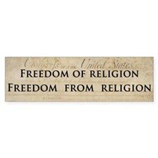 Freedom from religion (Bumper Sticker)