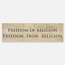 Freedom from religion (Bumper Sticker)
