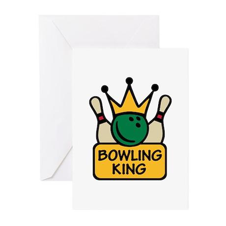 Bowling King Greeting Cards (Pk of 10)