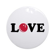 Bowling Love Ornament (Round)