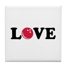 Bowling Love Tile Coaster