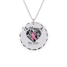 In Memory of My Sister Necklace Circle Charm