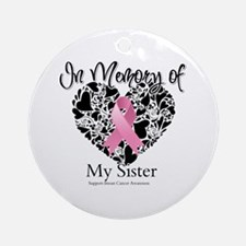 In Memory of My Sister Ornament (Round)