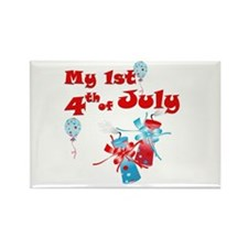 My 1st 4th of july Rectangle Magnet