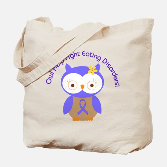 Eating Disorders Owl Tote Bag