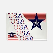 USA Stars and Stripes Rectangle Magnet