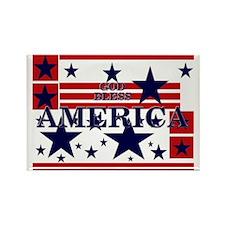 Patriotic God Bless America Rectangle Magnet