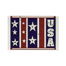 Vintage Look USA Rectangle Magnet