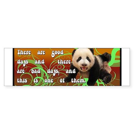 Good day Bad Day Panda Sticker (Bumper)