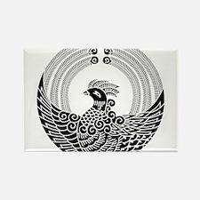 Dancing phoenix Rectangle Magnet
