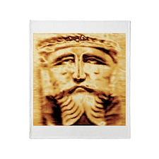 Gold Jesus Throw Blanket