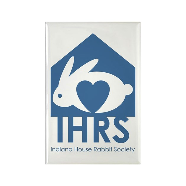 Indiana House Rabbit Society Rectangle Magnet by indianahrs