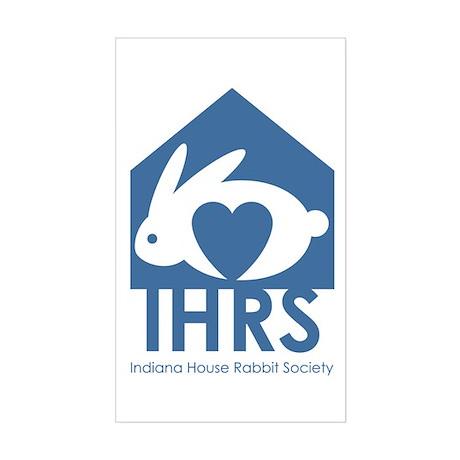 Indiana House Rabbit Society Sticker (Rectangular