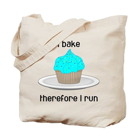 Cupcake w/Blue Frosting Tote Bag