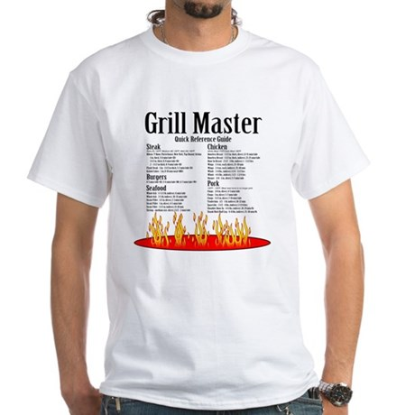 Grill Master Guide White T-Shirt