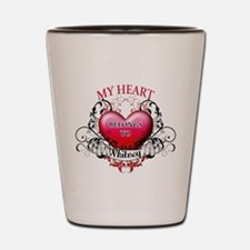 My Heart Belongs to Whitney Shot Glass